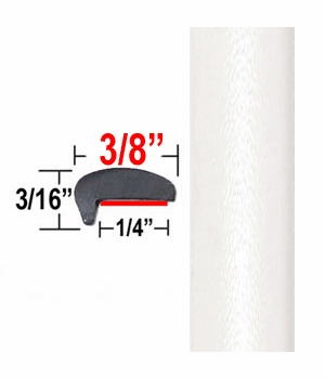 """""""L"""" Style White Car Door Guards ( PT17 ), Sold by the Foot, Precision Trim® # 1180-17"""