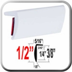 """""""L"""" Style White Molding Trim Sold by the Foot, Trim Gard® # RRT32-04-01"""