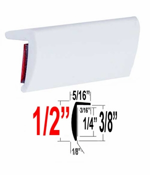 """L"" Style White Molding Trim Sold by the Foot, Trim Gard® # RRT32-04"