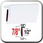 """""""L"""" Style White Molding Trim ( TG040 ), Sold by the Foot, Trim Gard® # RRT040HG-01"""