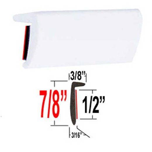 """""""L"""" Style White Molding Trim ( TG040 ), Sold by the Foot, Trim Gard® # RRT040HG"""