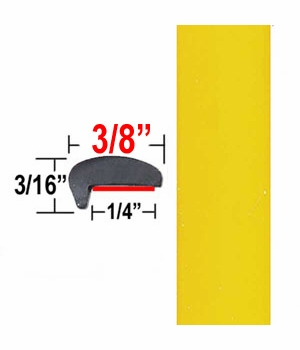 """""""L"""" Style Yellow Car Door Guards ( PT46 ), Sold by the Foot, Precision Trim® # 1180-46"""