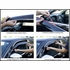 Lexus ES350 Rain Guards / Wind Deflectors 2007-2011 Seamless Ventvisor Dark Smoke Acrylic w/Chrome Trim 4-piece Set Auto Ventshade AVS #794012