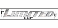"Universal ""LIMITED"" Emblem Badge Chrome Plated Set of 7 Letters Genuine Toyota #PT413-89100"