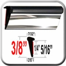 Lip Style Black-Chrome Car Door Guards Sold by the Foot, Cowles® # 39-650-01