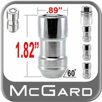"McGard® 9/16"" x 18 Wheel Locks Tapered (60°) Seat Right Hand Thread Chrome 4 Locks w/Key #24234"