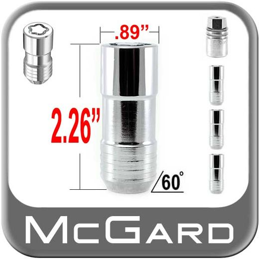 McGard® 14mm x 2.0 Wheel Locks Tapered (60°) Seat Right Hand Thread Chrome 4 Locks w/Key #24205
