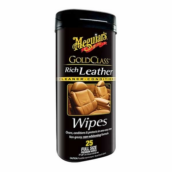 Meguiars Gold Class Rich Leather Wipes 25 wipes #G10900