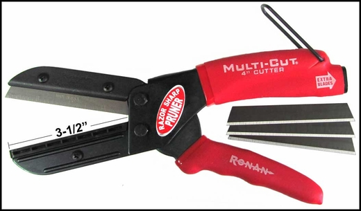 "Ronan Molding Cutters 3-1/2"" Blade Refillable, w/ 3 Extra Blades #401"