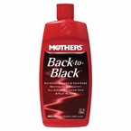 Mothers Back to Black Rubber, Plastic & Vinyl Restorer 8 oz. Pour Bottle #06112