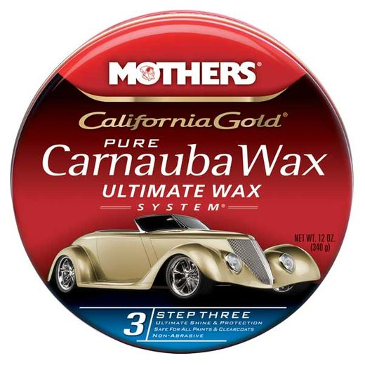 Mothers California Gold Pure Carnauba Wax Step 3 Paste Wax 12 oz. Tub #05550