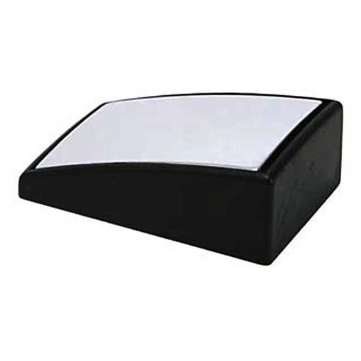 """Peterson Manufacturing Adjustable Wedge Style Blind-Spot Mirror 1-3/8"""" x 2-1/4"""" Wedge, Black Frame Stick on Convex #V599"""