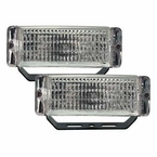 Pilot Automotive Back-Up Light White Beam w/Clear Lens Rectangular Design Black Set of 2 #NV803