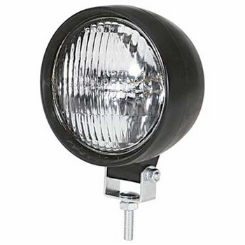 Pilot Automotive Utility Light White Beam w/Clear Lens Round Design Black Sold Individually #NV330