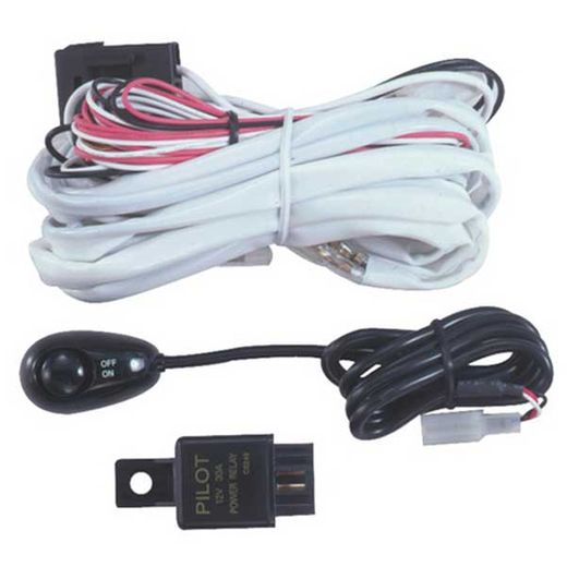 Pilot Automotive Wiring Harness w/Switch Micro Bug Switch w/LED Indicator Pre-wired for Auxiliary Lights #PL-HARN3