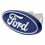 "Plasticolor Ford Oval Hitch Cover Billet Aluminum fits 2"" and 1-1/4"" Trailer Hitches #2236"