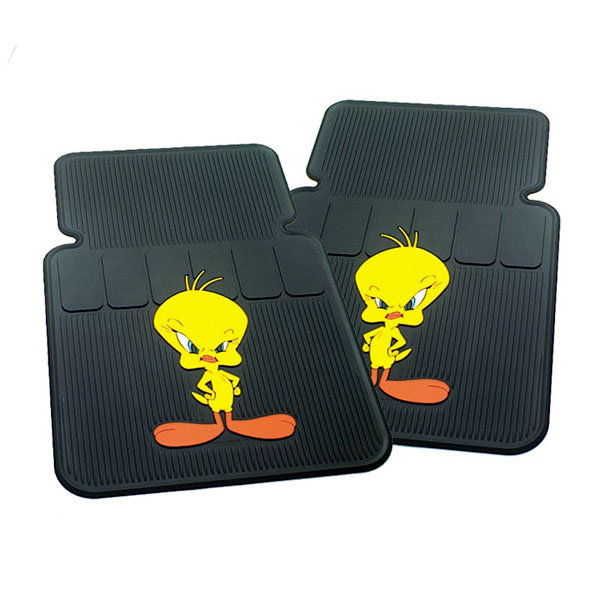 Set of 2 Tweety Attitude II Universal-Fit Molded Front Floor Mats
