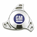 Promotive Air Cleaner Wing Nut Chrome w/Blue & White GM Logo #141-327