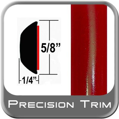 """5/8"""" Wide Absolute Red Wheel Molding Trim 3P0 ( CP16 ), Sold by the Foot, ColorTrim Plastics® # 80-16"""