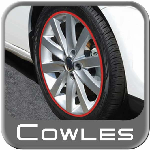 """1/4"""" Wide Red Wheel Trim Sold by the Foot, Cowles® # 37-520"""
