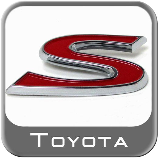 """Genuine Toyota S Emblem Sport Edition Chrome """"S"""" w/Red Inset Sold Individually #PT413-5206B"""