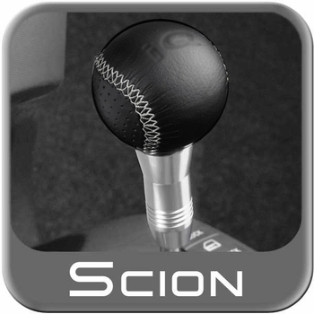 Scion iQ Shift Knob 2012-2015 Leather Wrapped Black Genuine Toyota #PT37A-74111