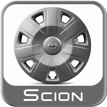 "Scion iQ Wheel Cover 2012-2015 For 16"" Steel Wheels 7-Spoke Sold Individually Genuine Toyota #PT280-74101-SR"