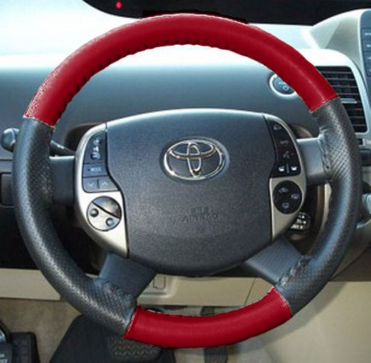 Scion Steering Wheel Cover Red/Black Leather by Wheelskins Genuine Toyota #PTS28-52040-03