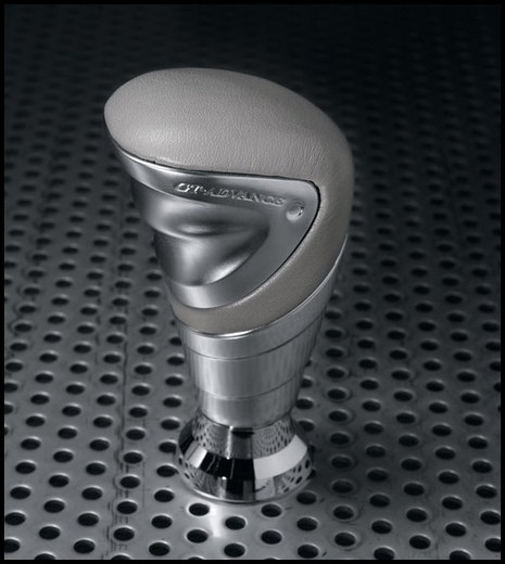 Scion tC Shift Knob 2005-2014 Billet Aluminum w/Gray Leather by Razo for Toyota Fits Manual or Automatic Genuine Toyota #PTS37-21070