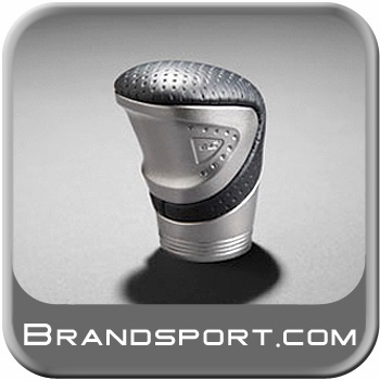 "Scion tC Shift Knob 2005-2016 Billet Aluminum w/Gray Leather Sport Knob with ""tC"" logo. Genuine Toyota #PT37A-21111"