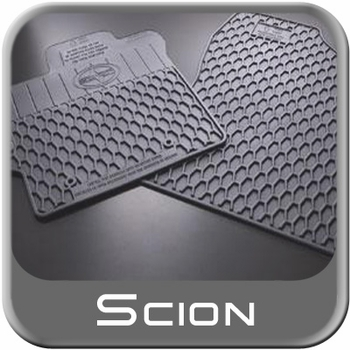 Scion xB Rubber Floor Mats 2008-2012 All-Weather Charcoal Color Front Pair Genuine Scion #PU320-52112-00
