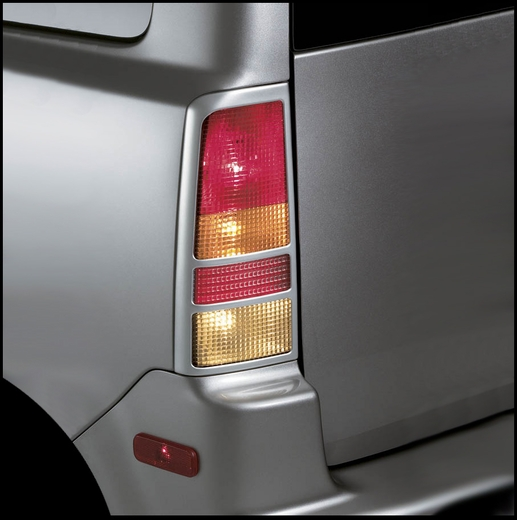 Scion xB Tail Light Garnish 2004-2007 Satin Silver Finish Rear Pair Genuine Scion #PTS10-52043