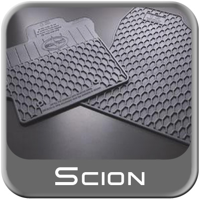 Scion xD Rubber Floor Mats 2008-2012 All-Weather Charcoal Color Front Pair Genuine Scion #PU320-52113-00