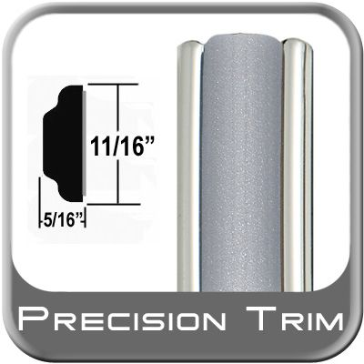 """11/16"""" Wide Silver Molding Trim ( PT22 ), Sold by the Foot, Precision Trim® # 3100-22-01"""