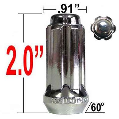 """Gorilla® 9/16"""" x 18 Lug Nuts Tapered (60°) Seat Right Hand Thread Chrome Sold Individually #26198HT"""