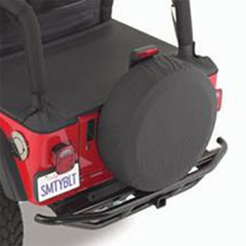 "SmittyBilt Black Denim Spare Tire Cover Black Denim Color Fits 27""-29"" Tires #772915"
