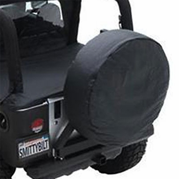"""SmittyBilt Black Spare Tire Cover Black Vinyl Material/Color Fits 27""""-29"""" Tires #772901"""