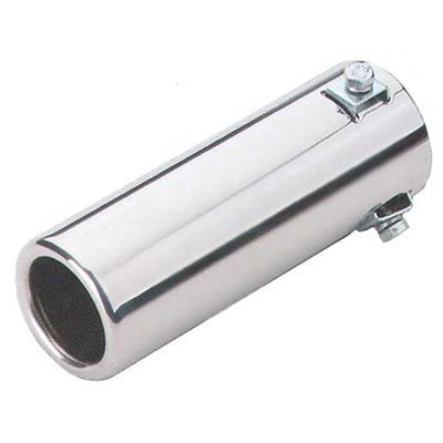 Superior 28-6101 2 x 6 Stainless Steel Round Bolt-On Exhaust Tip