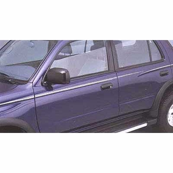 Toyota 4Runner Body Graphics 1996-2002 Driver's Side, Silver, Adheres to Body Side Genuine Toyota #00211-8L964-28