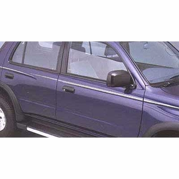 Toyota 4Runner Body Graphics 1996-2002 Passenger Side, Silver, Adheres to Body Side Genuine Toyota #00211-8R964-28