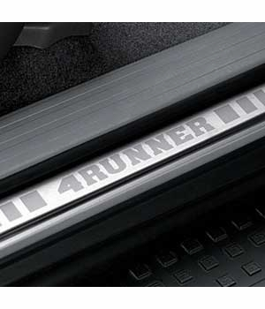 Toyota 4Runner Door Sill Protectors 2003-2009 Stainless Steel Rear Pair Genuine Toyota #PTS21-89041