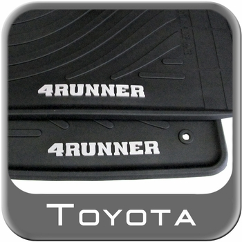 Toyota 4Runner Floor Mats 2010-2012 Rubber, All-Weather Black 4-Piece Set Genuine Toyota #PT908-89000-02