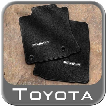 Toyota 4Runner Floor Mats 2013-2018 Carpeted, Black 4-Piece Set Genuine Toyota #PT208-89130-20