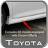 Toyota Camry Mud Flaps 2012-2017 L Front Pair Black fits models without chrome moldings excludes SE Front Pair Genuine Toyota #PU060-33012-FE