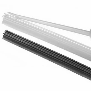 "Toyota Camry Wiper Blade Refill 1992-1996 Single Wiper Insert, with metal reinforcement ""D"" Style, 535mm (21"") long Synthetic Rubber Sold Individually Genuine Toyota #85223-YZZC7"