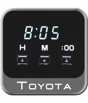 Toyota Corolla Digital Clock 1998-2002 VE Black Genuine Toyota #83910-02040
