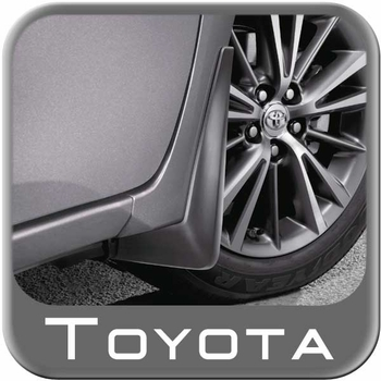 Toyota Corolla Mud Flaps 2014-2018 Front Pair Black Front Pair Genuine Toyota #PU060-12015-F1