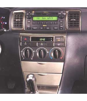 Toyota Corolla Wood Dash Applique 2003-2008 Simulated Blackwood Door Switch Plate Kit Genuine Toyota #PTS02-02021
