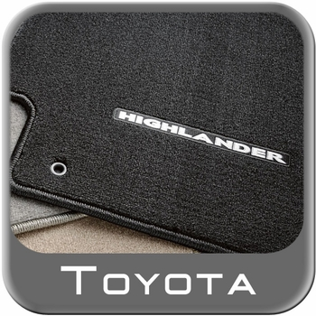 Toyota Highlander Carpeted Floor Mats 2008-2011 Black 3-Piece Set Genuine Toyota #PT919-48080-11