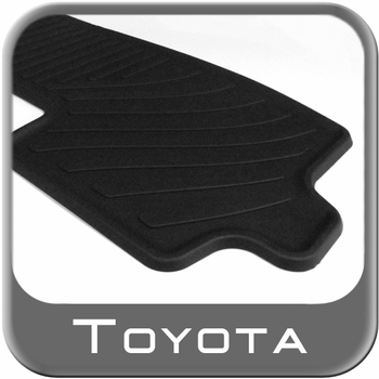 Toyota Highlander Rubber Floor Mats 2008-2013 All-Weather 3rd Row Mat Black 1-Piece Genuine Toyota #PT908-48000-02